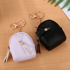 JQ_ Women Tassels Zip Faux Leather Coin Pouch Mini Key Chain Backpack Bag Pret image