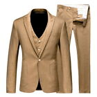 Men' s Blazer Coat Pants Suit Prom Tuxedo Slim Fit 3 Piece Groom Wedding Suit US