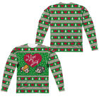 I LOVE LUCY FAUX UGLY SWEATER CHRISTMAS Men's Long Sleeve Tee Shirt SM-3XL