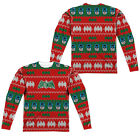 BATMAN FAUX UGLY CHRISTMAS SWEATER Adult Men's Long Sleeve Tee Shirt SM-3XL