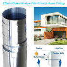 Home Tint Window Film Privacy One Way Mirror Reflective Heat UV Static Cling