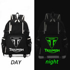 "TRIUMPH MOTORCYCLE Logo Backpack Men Boys Travel Rucksack School Bags 18"" $30.99 USD on eBay"