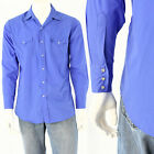 Men's M Pearl Snap Western Shirt Lavender or Yellow Ely Cattleman