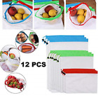 Reusable Mesh Produce Bags Premium Washable Eco Friendly Bags with Tare Weight
