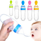 90ML BABY SILICONE SQUEEZE FEEDING BOTTLE WITH SPOON FOOD RICE CEREAL FEEDER APT