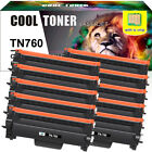 2 High Yield Compatible for Brother TN760 Toner Cartridge With Chip MFC-L2710DW