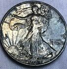 1944-S Silver Walking Liberty Half Dollar 50c  Toned High Grade Walker NO RESRVE