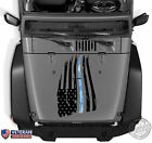 American Flag Thin Line Digi Camo Distressed Hood Decal Fits: Jeep Dodge Chevy