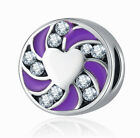 NEW European Silver plated Charm Bead Fit sterling 925 Necklace Bracelet D#055