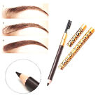 Black Brown Eye Brow Eyebrow Pen Pencil With Brush Makeup Cosmetic Waterproof