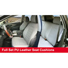 Full Sets Leather like Auto Car Seats Cushion Covers for Chrylser # 80255 Gray