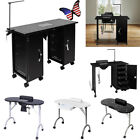 Manicure Table Portable Station Desk Spa Beauty Salon Vented LED Lamp Drawer US
