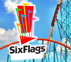 Six Flags Theme Park 1 Day Admission E-Ticket (Any Park, QUICK DELIVERY)
