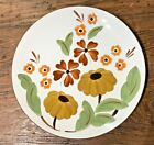 """VINTAGE 60'S-70'S FIRST LOVE STANGL NEW JERSEY 10"""" DINNER PLATE RUST BROWN YELLW"""