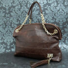 Rise-on LOUIS VUITTON Paris Souple Wish Brown Calfskin Leather Suede Handbag  #3