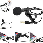 Lavalier Mic Microphone Case For IPhone Smart Phone Recording PC Clip-on Lapel L