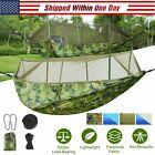 Portable Single & Double Hammock with Mosquito Net Netting Hanging Bed Outdoor