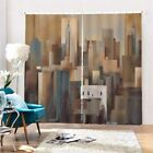 Gray Camouflage City 3D Curtain Blockout Photo Printing Curtains Drape Fabric