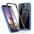 Jakpas LG Stylo 5 Case + Tempered Glass Screen Protector Full Body - Blue