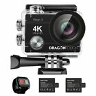 Dragon Touch Vision 3 Ultra HD 4K WIFI Action Camera 16MP DV Camcorder + 32GB SD