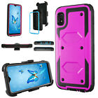 For Samsung A10e Case Hybrid Cover Built in Belt Clip Stand Screen Protector