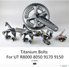 S-PARTS Ti tanium Bolts For SHIMANO UT/DA R8000 8050 DURA ACE 9100 9150