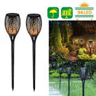 1/8PC 33/96LED Solar Light Path Torch Flame Flickering Lighting Lamp Garden Yard