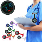 Silicone Digital Alarm Nurse Watch Brooch Health Care Fob Watch Quartz Colorful