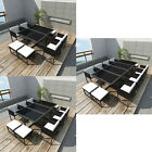 Poly Rattan Dining Table Chair Set Garden Furniture Outdoor Patio 8/10/12 Seat