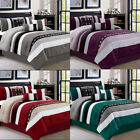 DCP 7 Pieces Luxury Bedding Comforter Sets Bed in Bag Stripe Queen,King,Cal King image