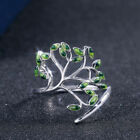 Beautiful Women 925 Silver Wedding Engagement Ring Peridot Ring Size 6-10 image