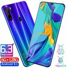 "P35 Pro Smartphone 6.3"" Hd Full Screen 4800mah Android 9.1 Face Id Cell Phone Uk"