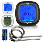 King Chef Barbecue Digital Meat Thermometer  Timer w/ 2 Stainless Steel Probes