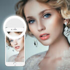 Portable LED Selfie Ring Fill Light Lamp Dimmable Makeup Phone Camera Universal