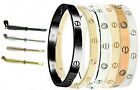 Внешний вид - Mens Women Screwdriver Screw Steel Bangle Love Bracelet Silver Gold Black Rose