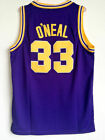 Shaquille O'neal Jersey 33# LSU Tigers College Throwback Sewn Baketball Jersey