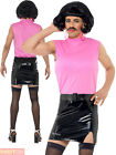Mens Freddy Mercury Costume Adults Queen Fancy Dress 80s Pop Star 1980s Outfit
