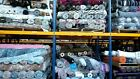 JOB LOT MADE IN ITALY ASSORTED FABRIC SOLD IN WEIGHT 50KG =APPROX 150MT J2