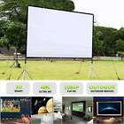"""60/72/84/100/120"""" Projector Screen HD 16:9 Diagonal Projection Foldable Theater"""
