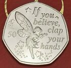 2019 Peter Pan Captain Hook Tinkerbell 50p Fifty Pence Coins UNC Almost BU