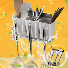 Over The Sink Dish Drying Rack Shelf Stainless Steel Kitchen Cutlery Holder US