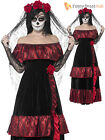 Ladies Halloween Day Of The Dead Zombie Corpse Bride Womens Fancy Dress Costume