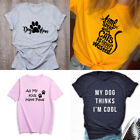 Animal Lover T-shirt Dog Lover Gift Coffee Shirt Funny Graphic Tee Tops Gift