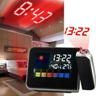 LCD Screen LED Backlight Digital Alarm Clock Projection Weather  Time Display