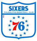 Philadelphia 76ers Shield Logo Vinyl Decal / Sticker 2 Inches to 48 Inches!! on eBay