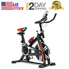 Exercise Bike Indoor Cycling Bike w/LCD Display Stationary Bike Cardio Workout