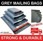 STRONG POLY MAILING POSTAGE POSTAL BAGS QUALITY SELF SEAL GREY 100% - ALL SIZES