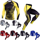 Men's Compression Pants Workout Sports Long Sleeved Shirt Tight fit Camo Printed