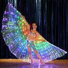 Belly Dance Costume Kids Girls LED Isis Wings with 2 Sticks 3 Colors
