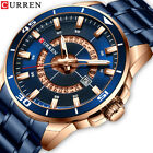 CURREN Full Steel Watch for Men Watches Quartz Date Luxury Business Wrist Watch image